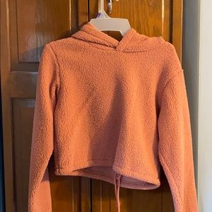coral cropped sweatshirt